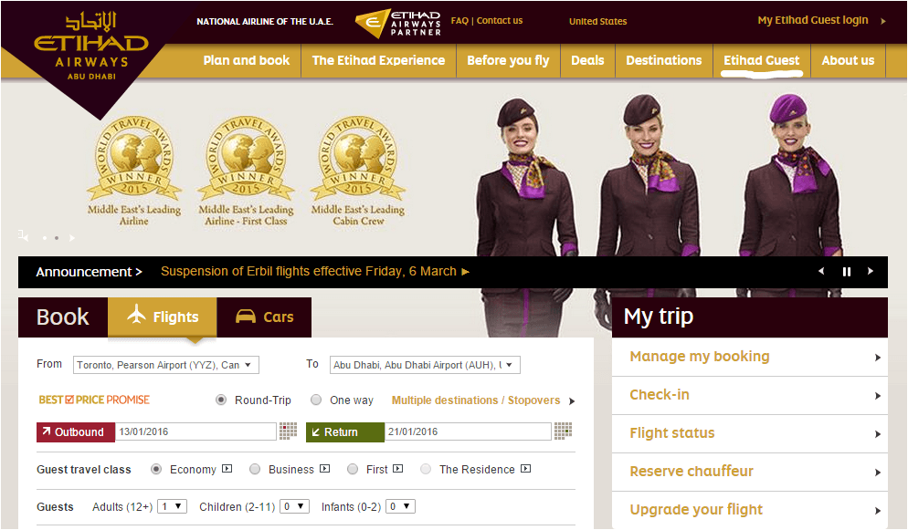 PIC 1 How to Book an Etihad Award Seat