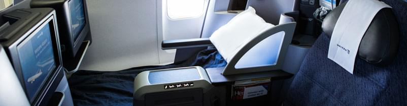 Premium service business class from United