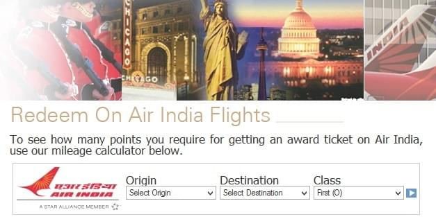 Air India Domestic and International Mileage Award Calculator