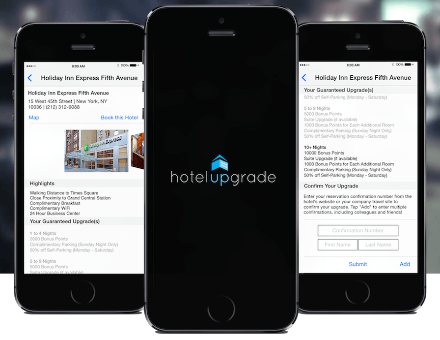 Use the HotelUpgrade app to get complimentary perks