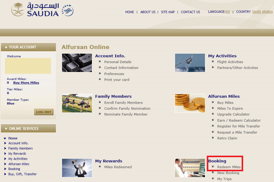How to redeem miles with Saudia Alfursan