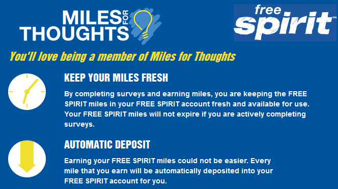 Join Miles for Thoughts and earn 400 miles for your first survey