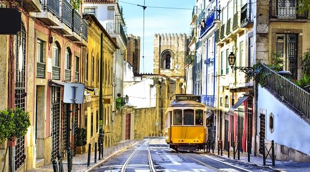Lisbon has an extensive network of tramways to get around the city