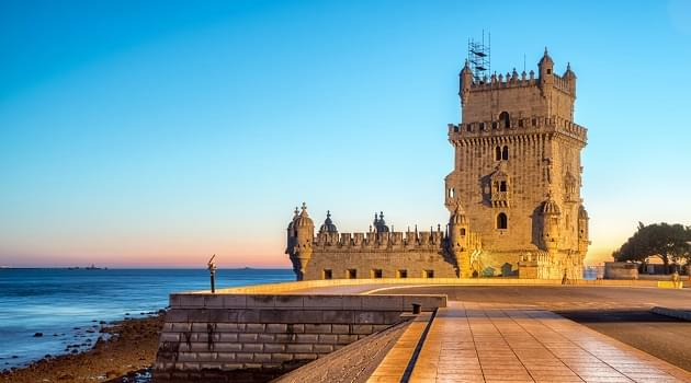 The Tower of Belem by night. Lisbon, Portugal