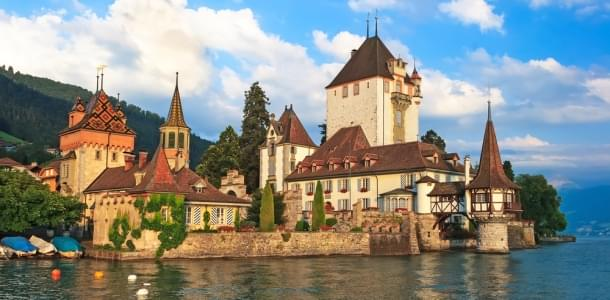 Oberhofen Castle in Switzerland