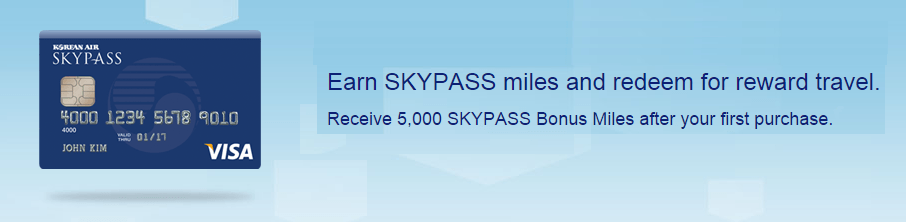 The Korean Air SKYPASS Visa Classic card