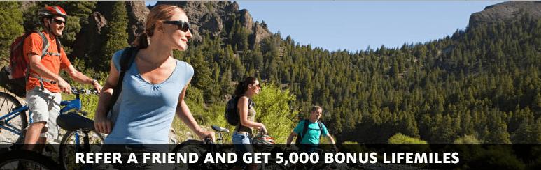 The LifeMiles Visa card offers a referral bonus