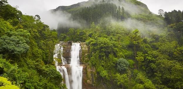 A waterfall near Nuwara Eliya, Sri Lanka