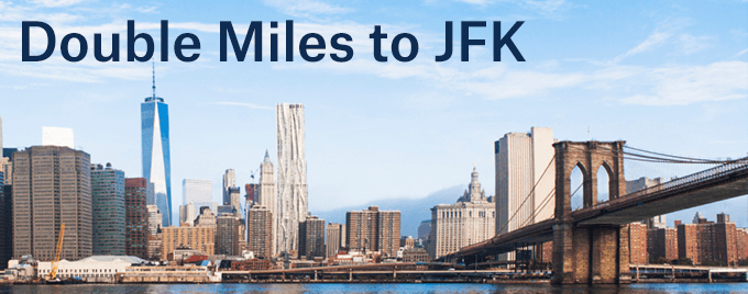 Earn double miles on flights between Seattle and New York