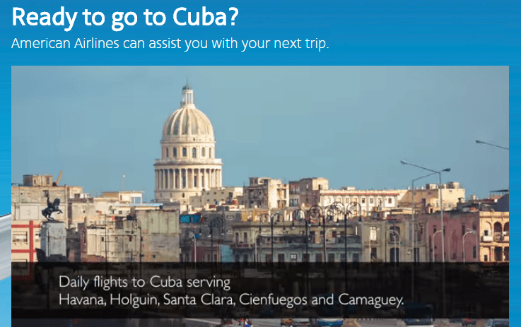 American is expanding its charter service to Cuba