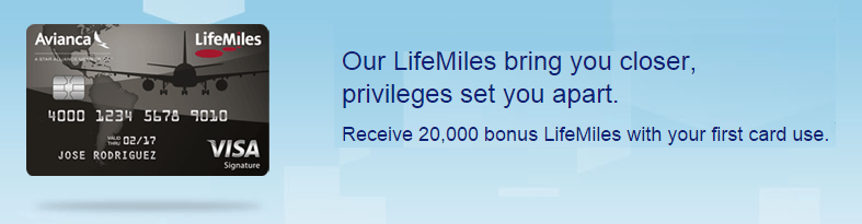 Avianca LifeMiles Visa Signature card