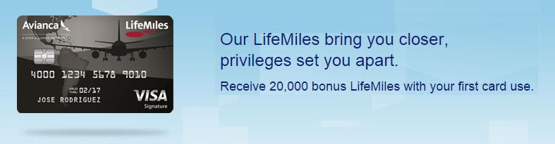 Avianca LifeMiles Visa Signature card