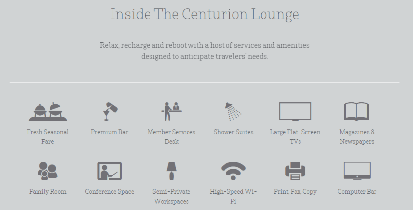 Platinum and Centurion Amex cardholders get free access to Centurion Lounges