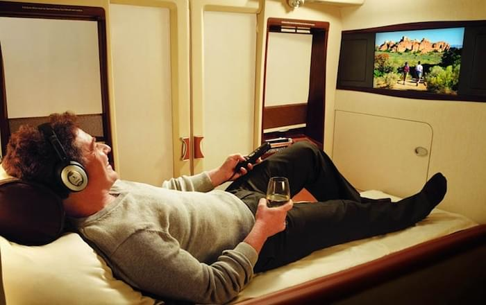 Singapore Airlines' first class suite