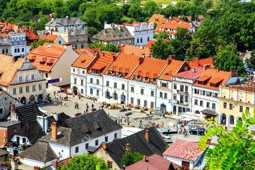 A panorama of Kazimierz Dolny, Poland