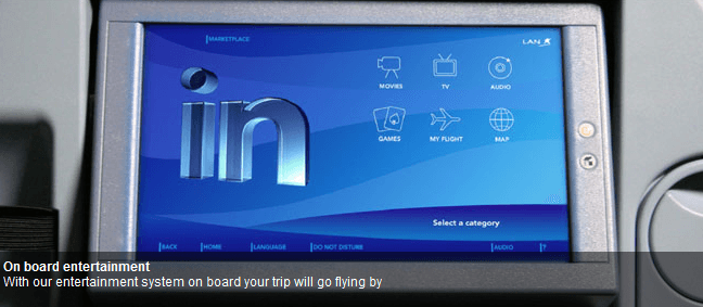 LAN offers seat back entertainment systems on all flights