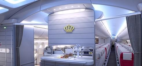 Royal Jordanian's Dreamliner has a refreshment bar