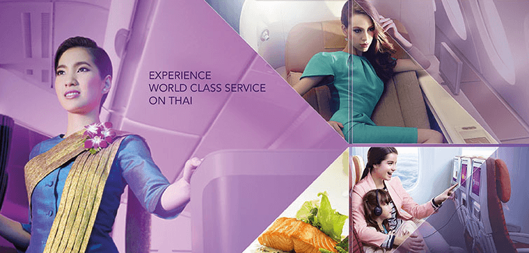 Thai Airways offers excellent service in all classes