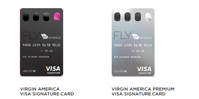 virgin america offers two co branded credit cards - Visa Signature Credit Card