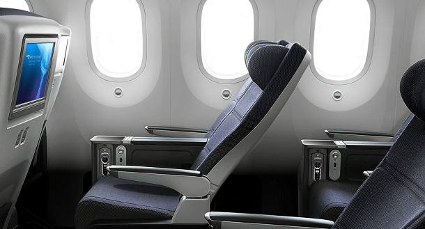 That is how 787 World Traveller Plus (premium economy) looks like