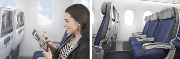 In the main cabin of AA Dreamliner you can enjoy various benefits like personal in-seat on-demand entertainment and more