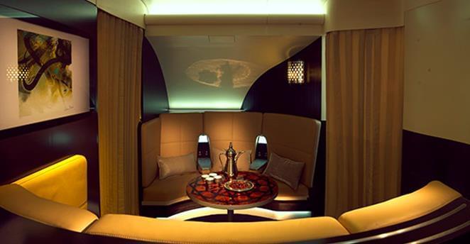 The Lobby on Etihad's new A380 aircraft