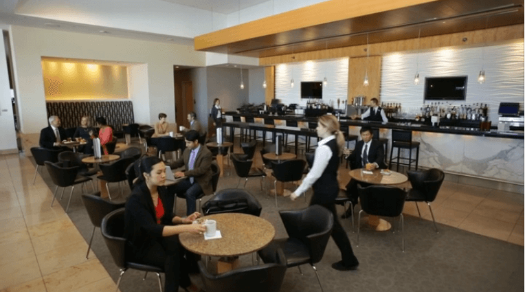 The Admirals Club offers a variety of amenities