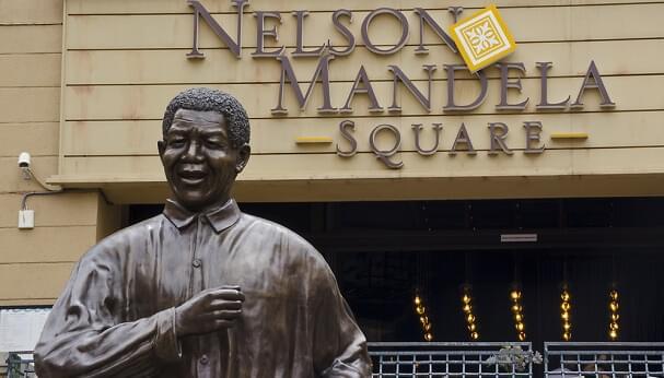 A statue of Nelson Mandela in Johannesburg