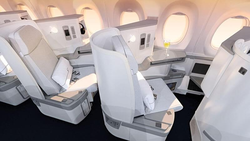 Business class aboard Finnair's A350