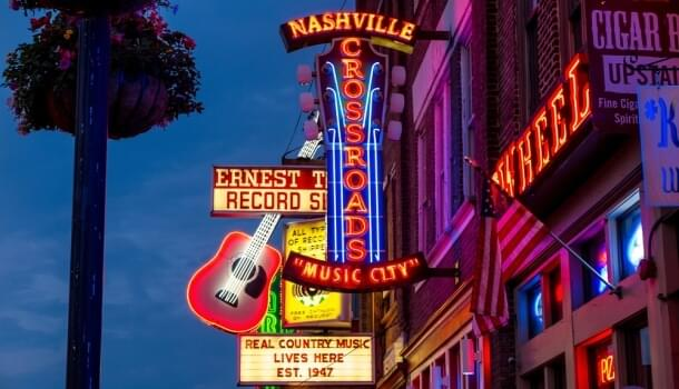 Nashville's known for its country music