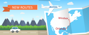 New Route for National Airlines: Orlando to Windsor, Ontario