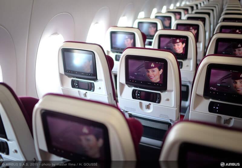 Economy class aboard Qatar Airways' A350