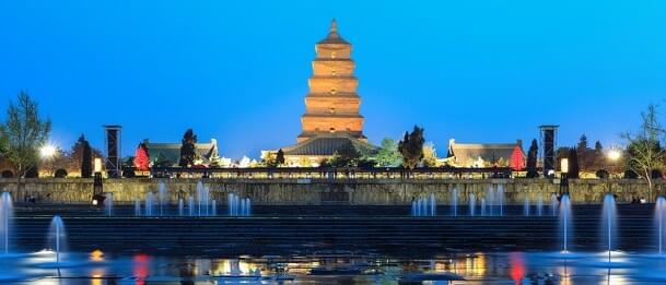 The Giant Wild Goose Pagoda in Xi'an, China