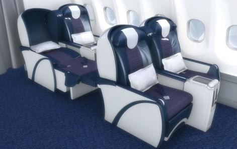 South African Airways business class seats