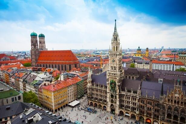 Marienplatz, the central square in Munich
