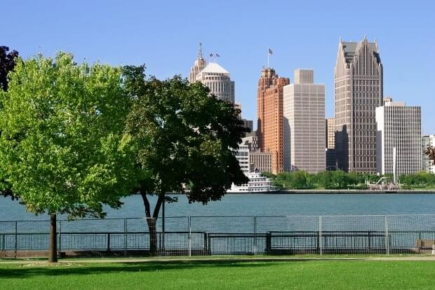 View of the Detroit skyline from Windsor, Ontario