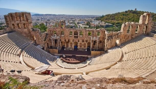 Odeon of Herodes Atticus amphitheater in Athens
