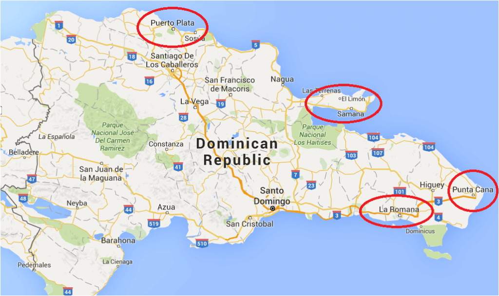 The Map of Dominican Republic