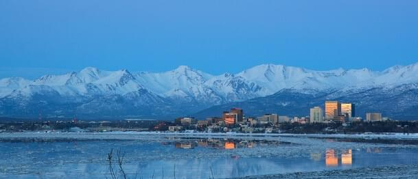 The Anchorage skyline