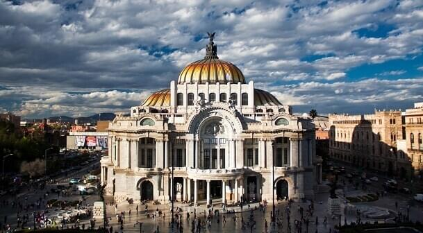 Palace of Fine Arts museum in Mexico City