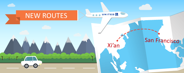United Airlines Goes To Xi'an, China