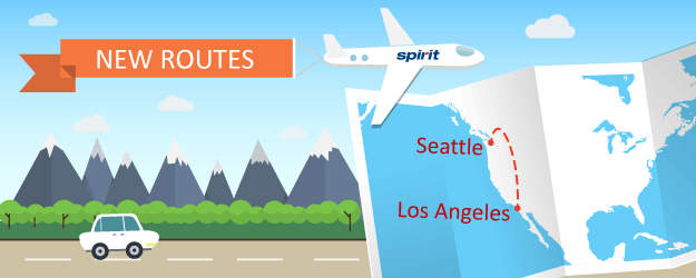 Spirit Airlines Will Fly From Seattle to Los Angeles