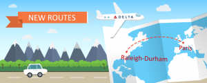 Delta Introduces Nonstop Flights Between Raleigh-Durham and Paris