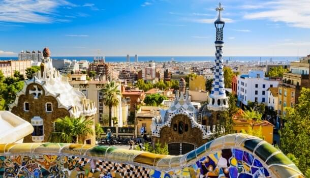 The Park Guell in Barcelona