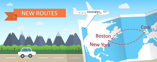 Norwegian Air Adds Flights to Cork From Boston and New York