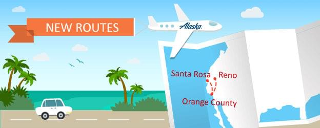 Fly to Santa Rosa or Reno/Tahoe From Orange County on Alaska Airlines