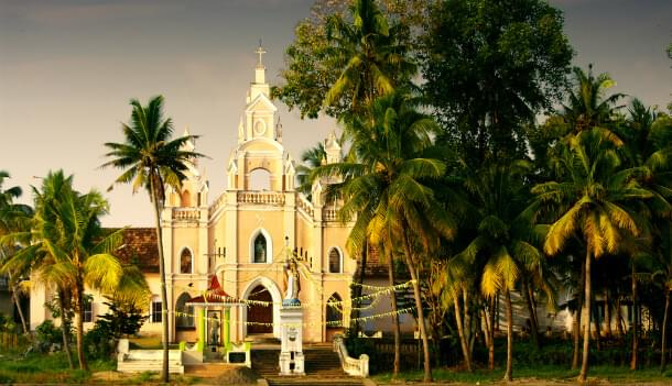 A church in the backwaters of Kerala