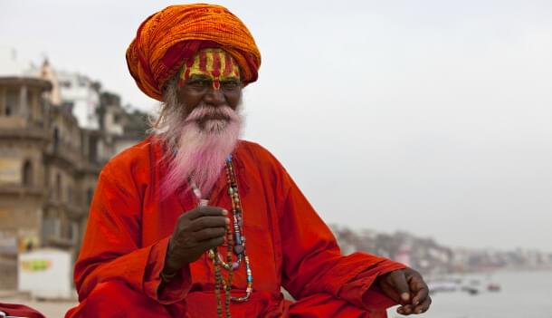 A holy man during a festival in Varanasi