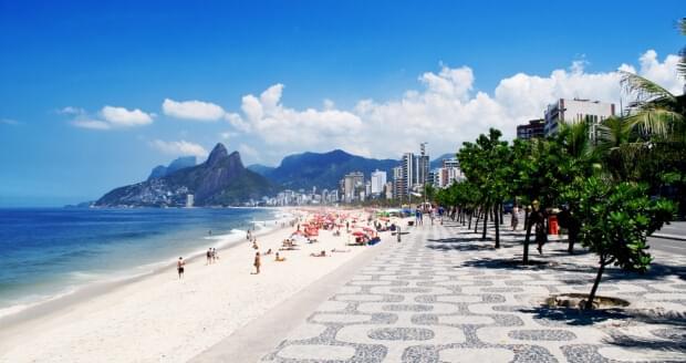 One of Rio de Janeiro's famous beaches