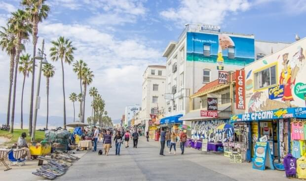 Venice Beach's Ocean Front Walk in Los Angeles
